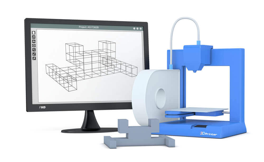 3d printer with a computer monitor