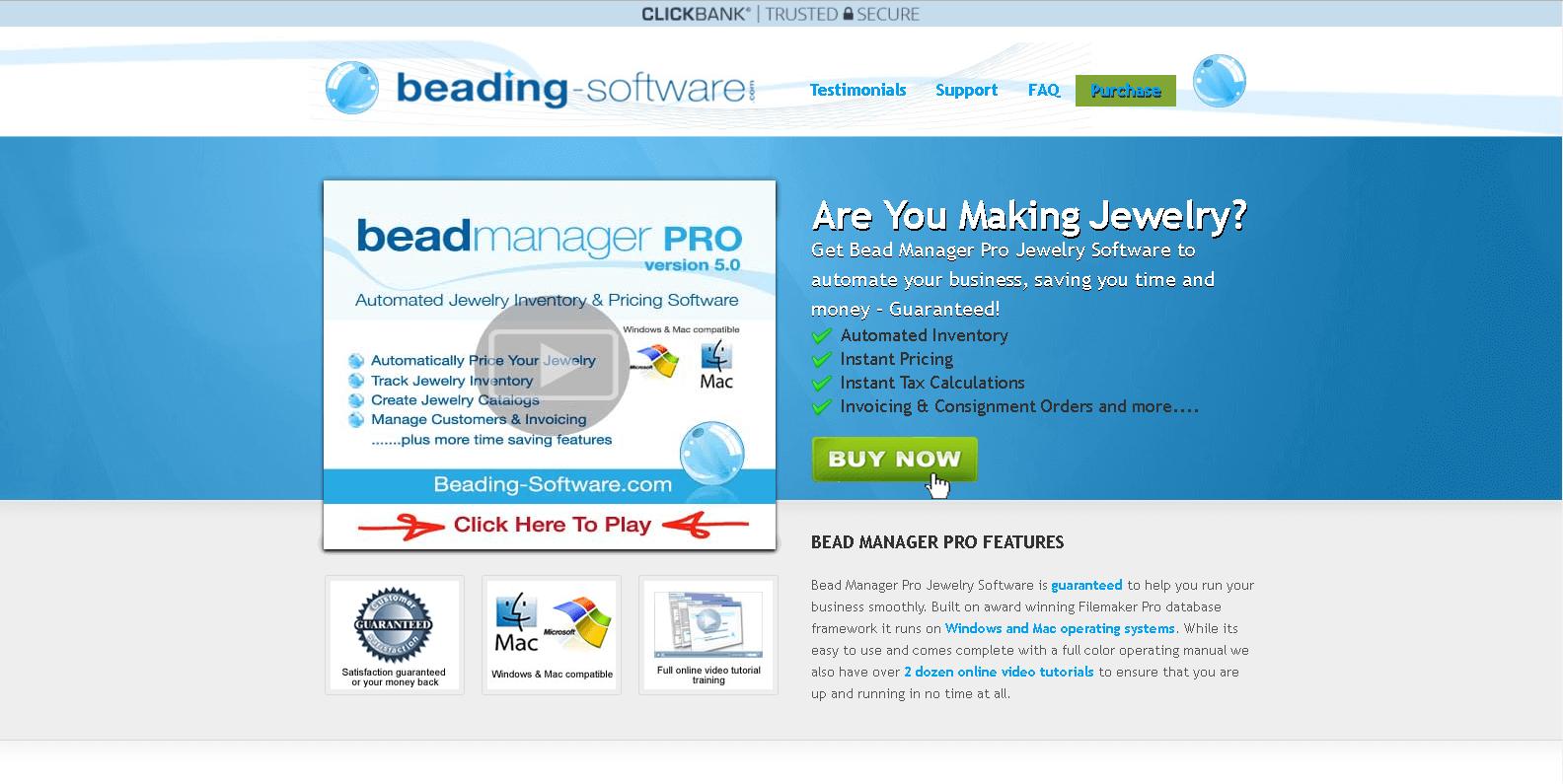 Bead Manager Pro software screenshot