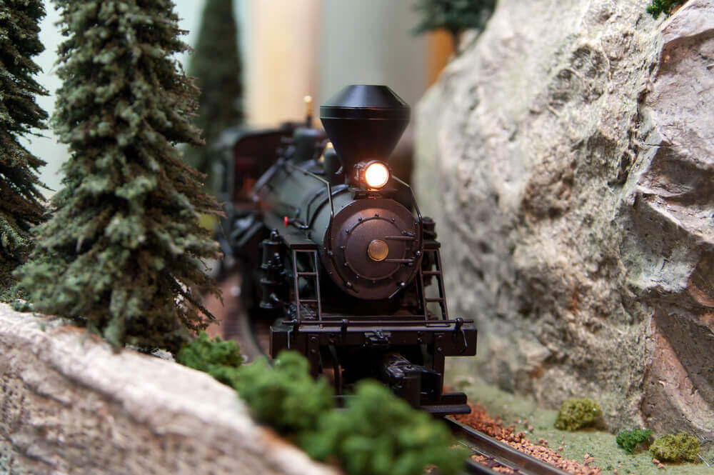 Black model Locomotive