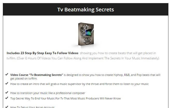 Website of 'TV Beatmaking Secrets'