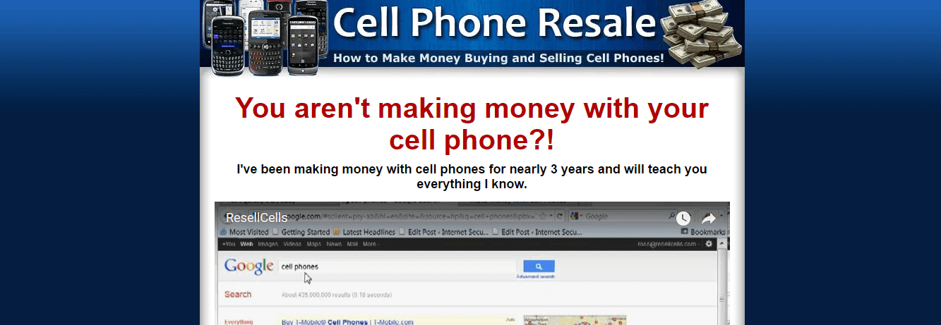 Cell Phone Resale product site