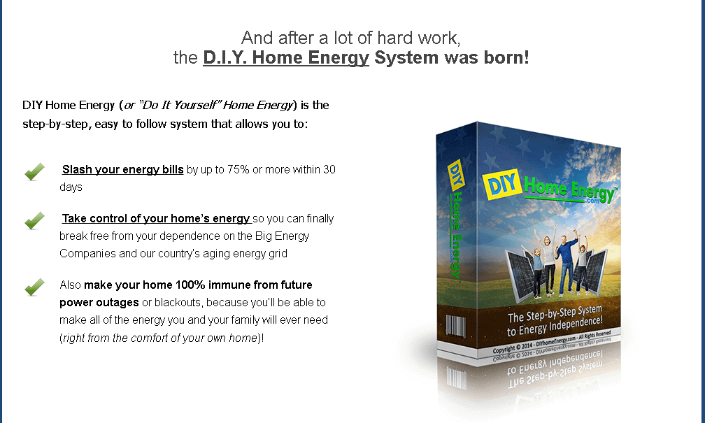 DIY Home Energy system offer