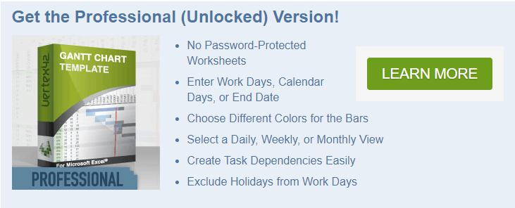 vertex42 gantt chart unlock password