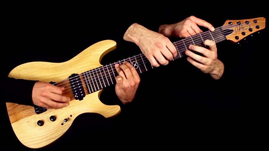 Guitar Learning by picking fret-board