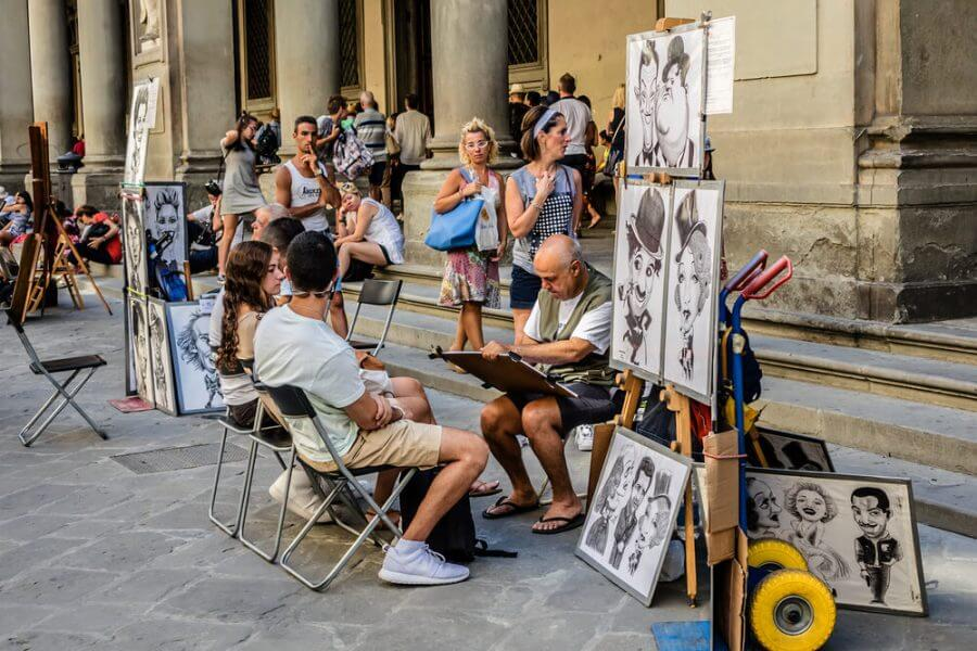 Paintings being sold on street