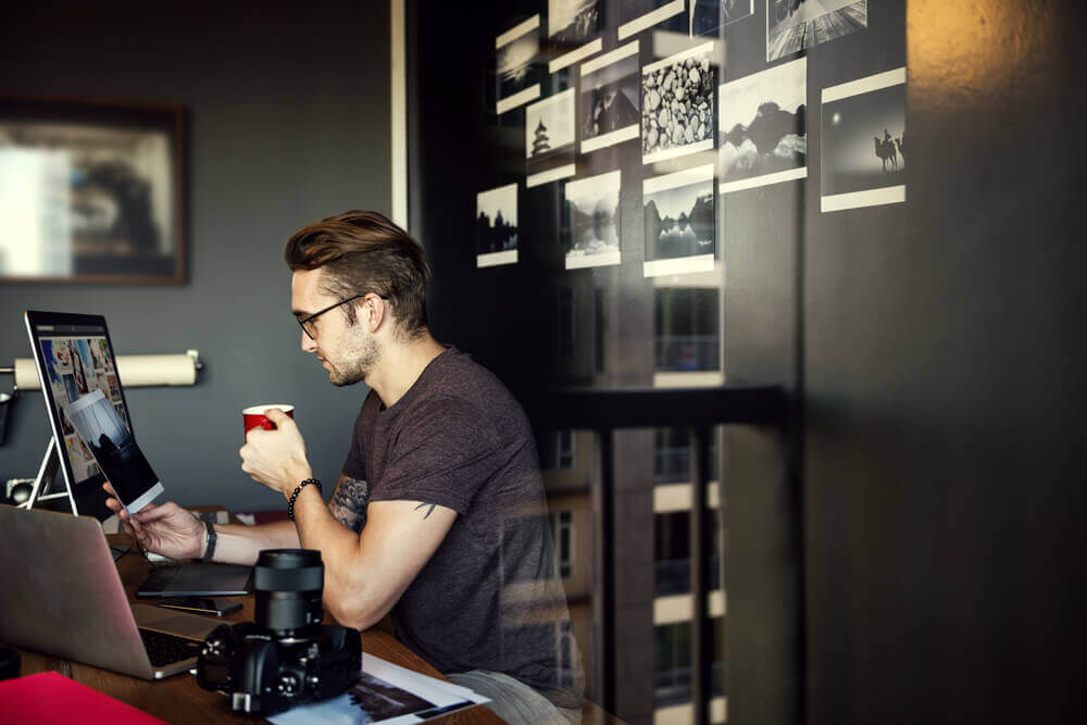 Photographer Editing Home Office