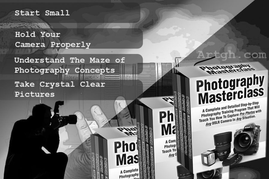Photography Masterclass Step by step process