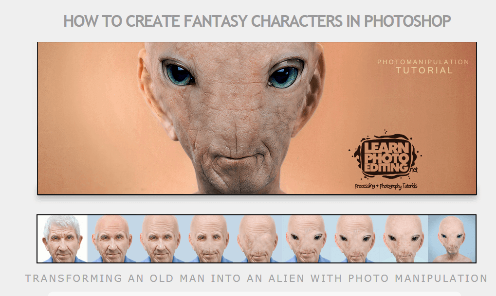 Create fantasy characters in Photoshop