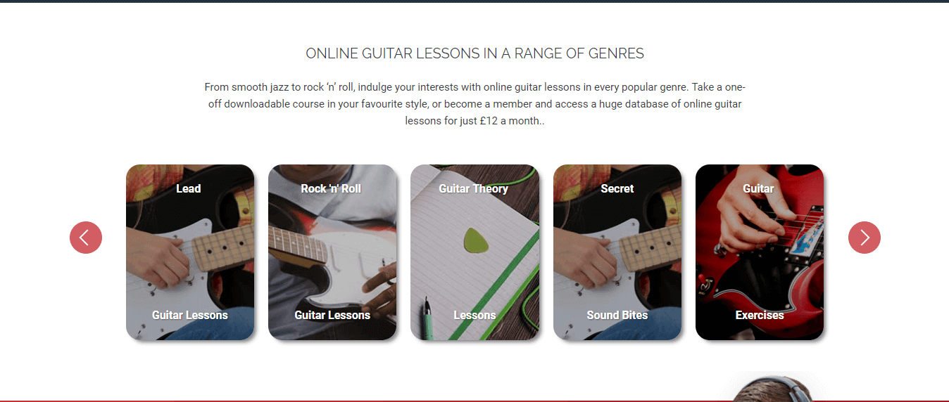 ONLINE GUITAR LESSONS IN A RANGE OF GENRES