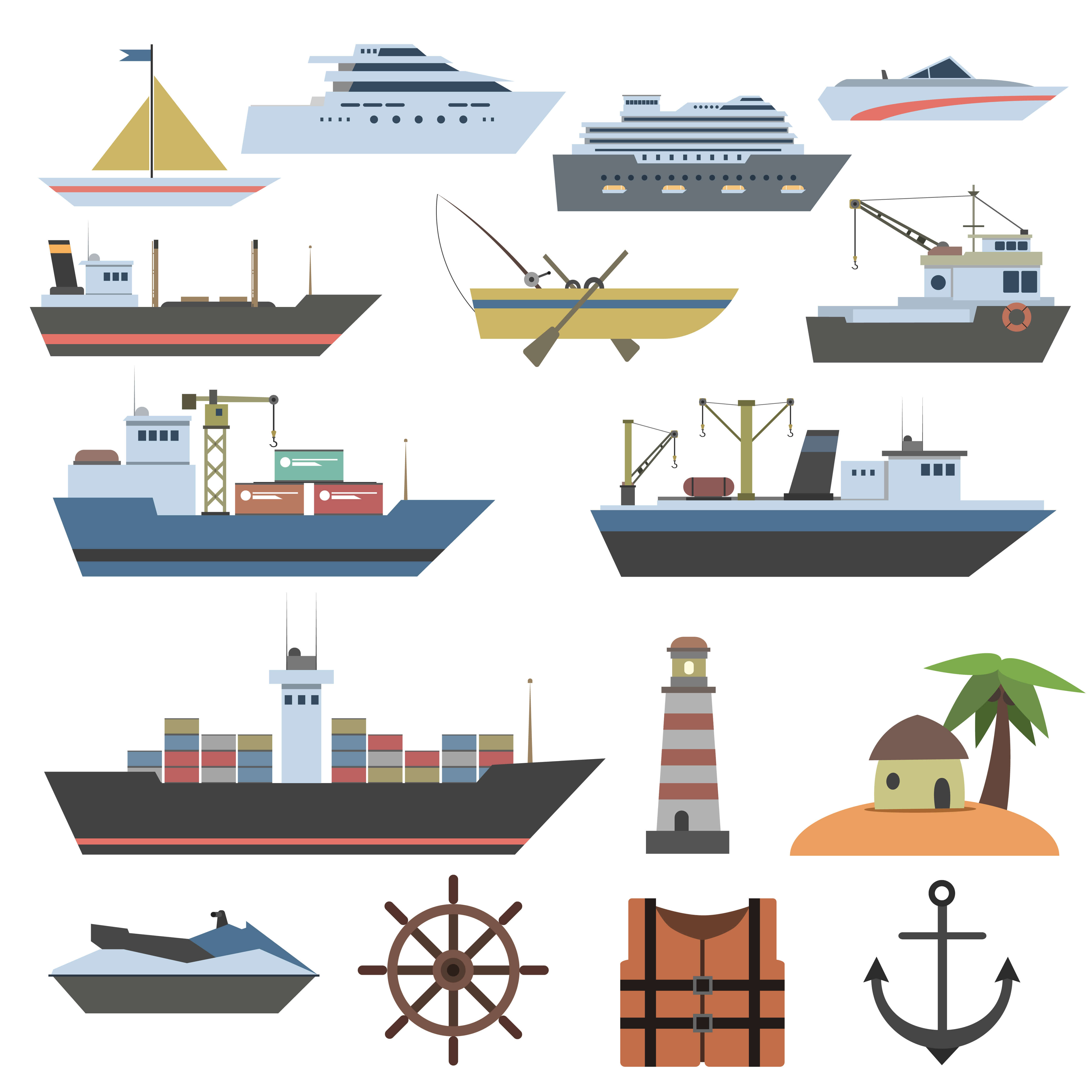 Ships and sailing vessels