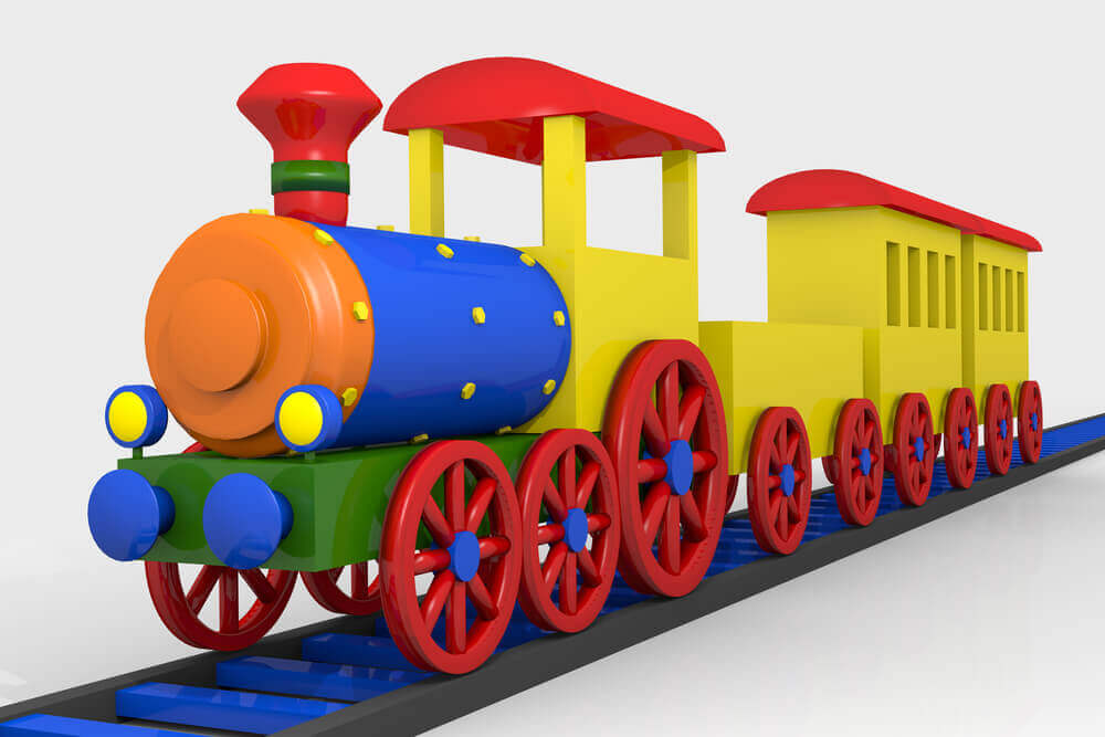 Toy train, 3d image