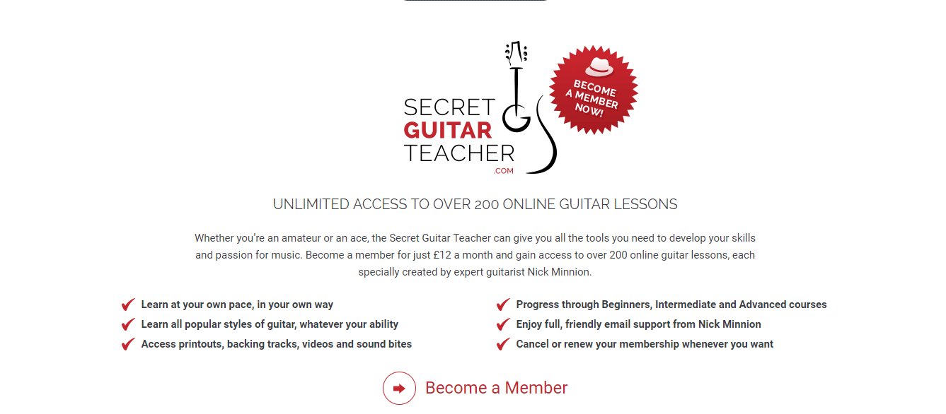 Description about guitar lessons from secret guitar teacher