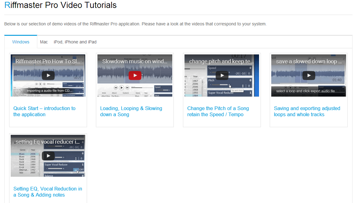 Featured video tutorials
