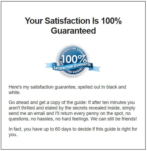 Your Satisfaction Is 100% Guaranteed