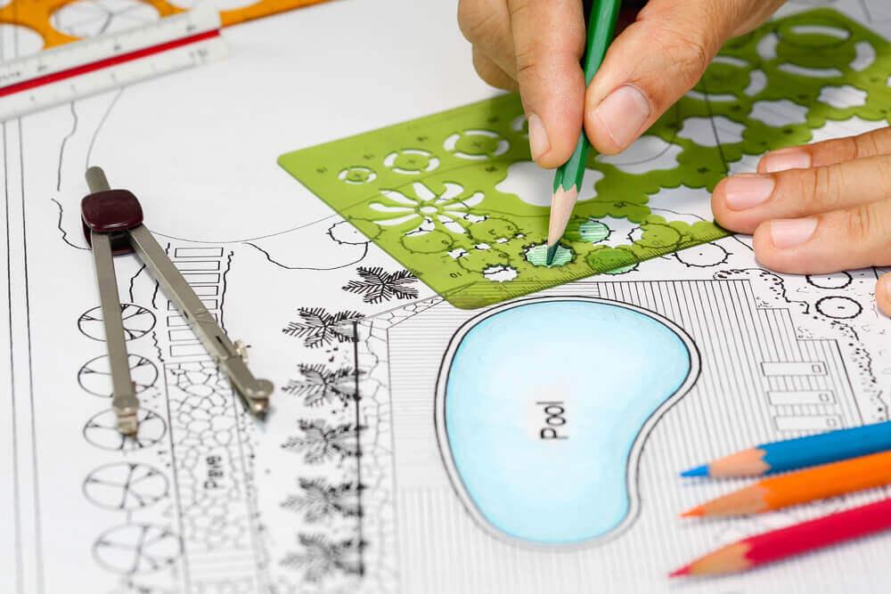 architect designs backyard plan