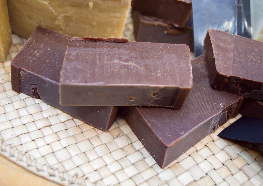 bars of chocolate soap