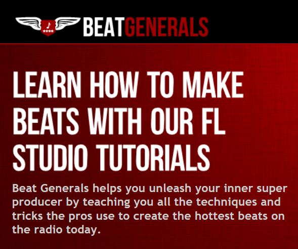 A screenshot describing the Beat Generals program