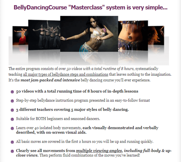 belly dancing course structure