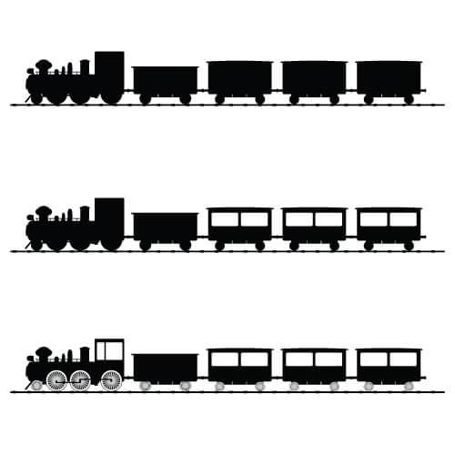 black model train vector