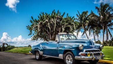blue Chevrolet Cabriolet
