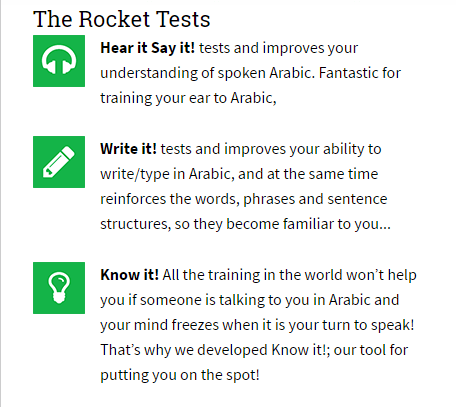 Rocket Arabic- The Tests