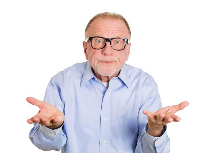 dumb clueless senior mature man