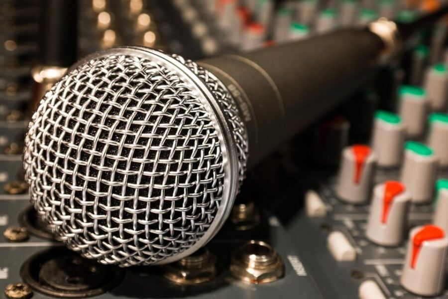 A microphone; every music artists needs