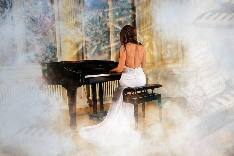 music with emotions playing piano
