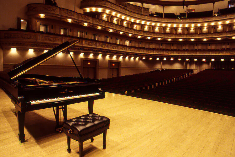 Steinway Piano at Carnegie Hall, NYC
