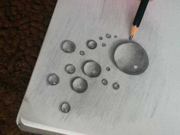 rain-drops-sketch
