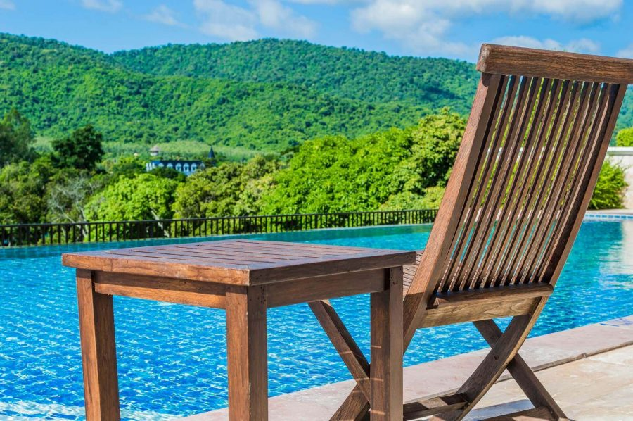 Wooden Poolside Chair