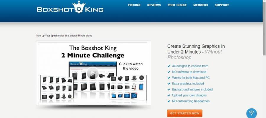 Boxshot King website