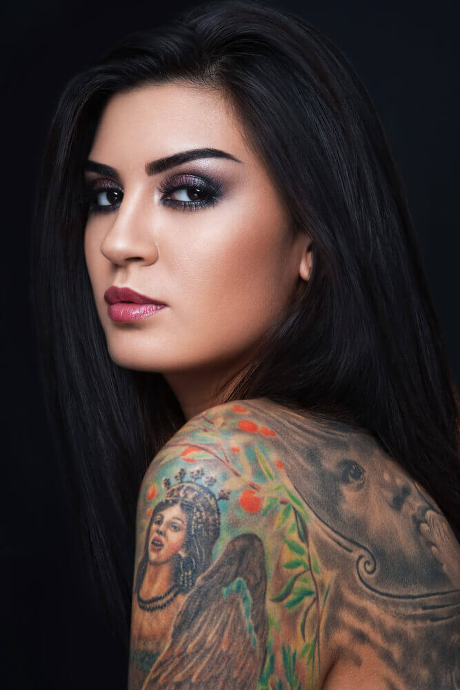 sexy woman with gorgeous tattoo