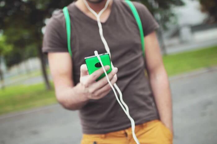 headphones on commute