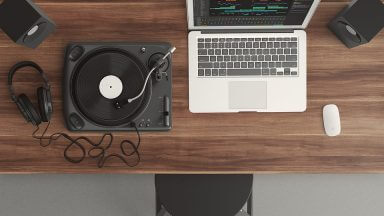 A beat maker's workplace