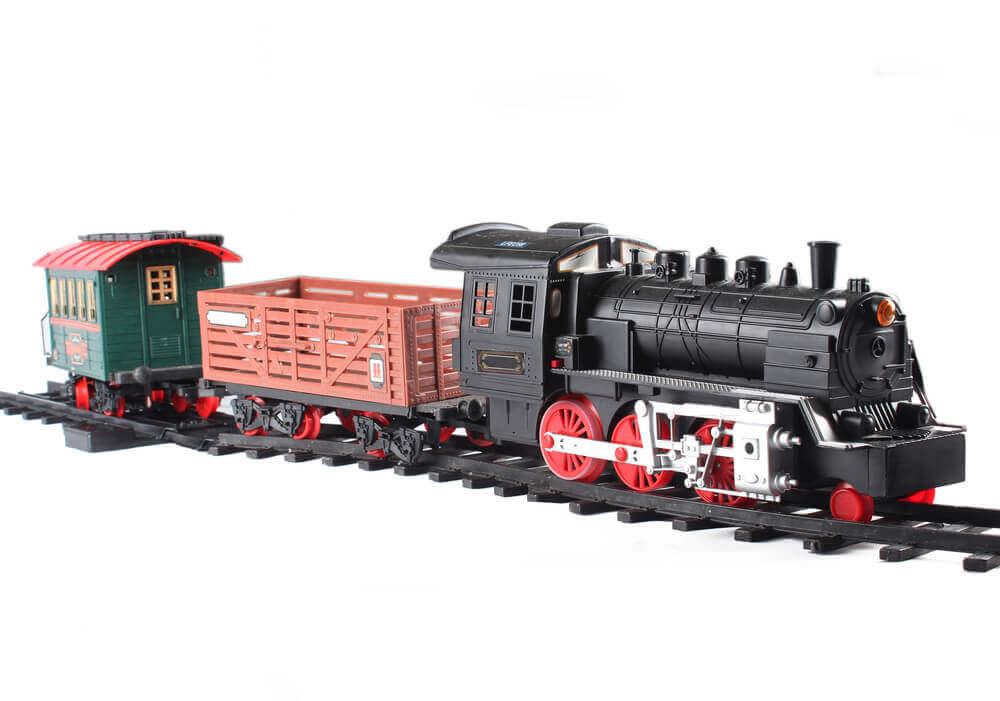 upclose classic train model